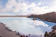 Blue Lagoon - famous Icelandic spa and Geothermal Plant Stock Image