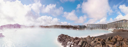 Blue Lagoon - famous Icelandic spa and Geothermal plant, Iceland Royalty Free Stock Photos