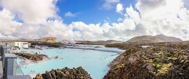 Blue Lagoon - famous Icelandic spa and Geothermal plant, Iceland Royalty Free Stock Image