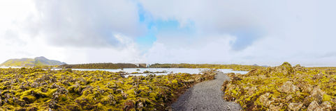 Blue Lagoon - famous Icelandic spa and Geothermal plant, Iceland Royalty Free Stock Photography