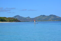 Blue lagoon in Fiji Islands Stock Images
