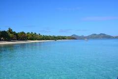 Blue lagoon in Fiji Islands Stock Image