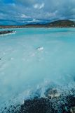 The blue lagoon geothermal bath. Stock Photo