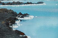 The blue lagoon geothermal bath. Royalty Free Stock Photo