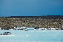 The blue lagoon geothermal bath. Stock Photography