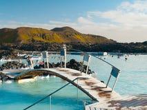 Blue Lagoon geothermal bath resort Royalty Free Stock Photo