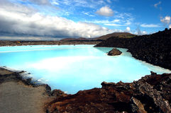 The Blue Lagoon geothermal bath resort in Iceland. Royalty Free Stock Photography