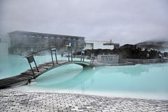 Blue lagoon, geothermal spa. Iceland Royalty Free Stock Photography