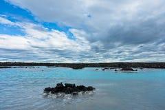 Blue lagoon geothermal spa near Grindavik, Iceland Royalty Free Stock Photo