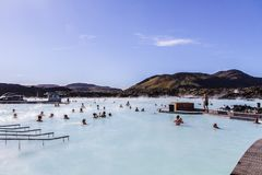 Blue Lagoon geothermal spa is one of the most visited attractions in Iceland 11.06,2017 royalty free stock photos