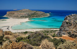 Blue lagoon in greece. Blue lagoon in Grecce Crete Royalty Free Stock Images