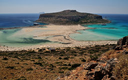 Blue lagoon in greece. Blue lagoon in Grecce Crete Royalty Free Stock Photo