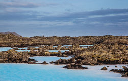 Blue lagoon hot spring, Iceland Stock Images