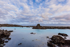 Blue lagoon hot spring, Iceland Royalty Free Stock Photos