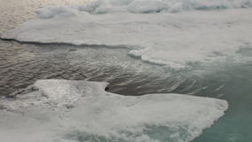 Blue Lagoon ice in Arctic Ocean. Wilderness in Iceland. Extreme tourism and travel in the cold polar north stock video