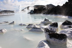 Blue lagoon in iceland Royalty Free Stock Photo