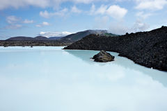 Blue Lagoon in Iceland. Royalty Free Stock Images