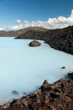 Blue Lagoon in Iceland. Blue Lagoon in Reykjavik in Iceland Royalty Free Stock Photos