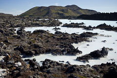 Blue Lagoon Iceland. The Blue Lagoon in Iceland geothermal spa is one of the most visited places in Iceland. It's steamy waters are located in a lava field in Royalty Free Stock Photos