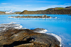 Blue Lagoon, Iceland. Blue Lagoon, a geothermal bath resort in Iceland royalty free stock photo