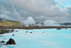 Blue Lagoon Iceland Stock Photography