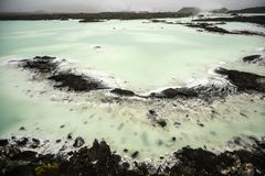 Blue lagoon in Iceland, colorful hot springs, tourist attraction Stock Image