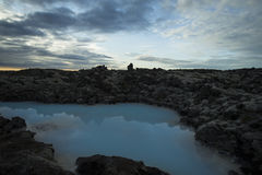 The blue lagoon in Iceland Stock Image