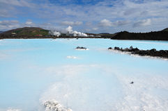 The Blue Lagoon on Iceland in Juli month Royalty Free Stock Photo