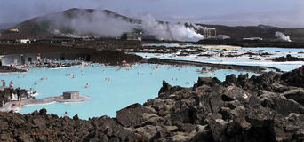 Blue Lagoon in Iceland. Royalty Free Stock Photo