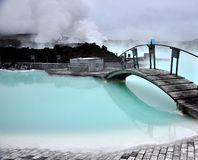 Blue lagoon. Iceland stock photo Royalty Free Stock Image
