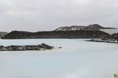 Blue lagoon in iceland Royalty Free Stock Image