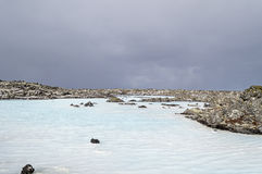 Blue lagoon in iceland Stock Image