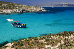 Blue Lagoon - Island of Comino - Malta Royalty Free Stock Images