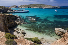 Blue Lagoon - Island of Comino - Malta Stock Image