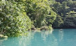 Blue lagoon on Jamaica in sunny day.  Stock Images