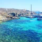Blue Lagoon. Malta, Comino Blue Lagoon Royalty Free Stock Image