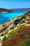 Blue lagoon in Malta Stock Images