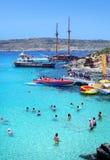 Blue lagoon in Malta Royalty Free Stock Photo