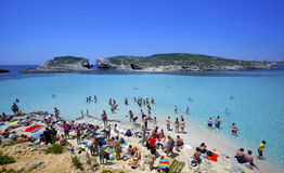 Blue lagoon in Malta Royalty Free Stock Photography