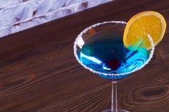 Blue Lagoon Margarita Cocktail. Blue Lagoon Margarita Cocktail in the bar stock image