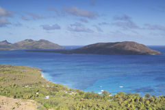 Blue Lagoon, Nacula Island, Yasawa Islands, Fiji. View of the Blue Lagoon, Nacula Island, Yasawa Islands, Fiji, South Pacific Stock Images