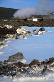 Blue Lagoon, natural hotspring in Iceland Royalty Free Stock Photography