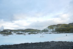 Blue lagoon near reykjavik iceland Royalty Free Stock Images