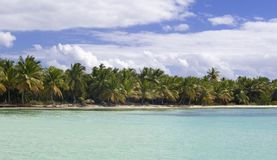 Blue lagoon near Saona island Royalty Free Stock Photography