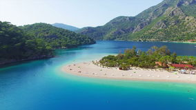 Blue lagoon in Oludeniz, Turkey stock footage