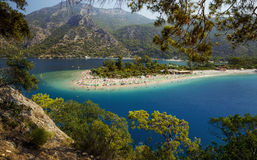 Blue Lagoon in Oludeniz, Turkey. Blue Lagoon in Oludeniz Fethiye, Turkey royalty free stock image