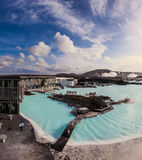 Blue lagoon outdoor geothermal pool, Iceland Stock Photo