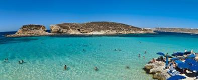 Blue Lagoon panorama Royalty Free Stock Image