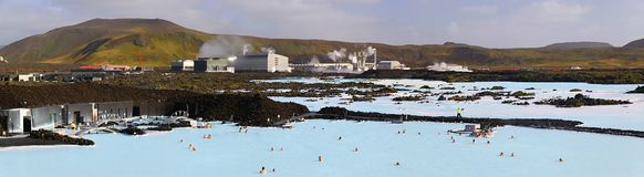 Blue lagoon panoramic Royalty Free Stock Image