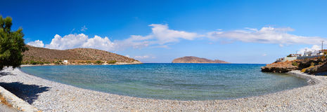 Blue lagoon. Panoramic view of the blue lagoon in Crete, Greece Stock Image